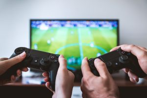 gaming, tv, players